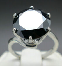10.08cts 13.78mm Real Natural Black Diamond Ring AAA Grade & $5240 Value'