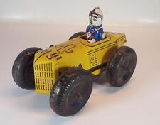 Marx Toys Blech Tin Toy Rennwagen mit Fahrer mit Uhrwerk-Aufzug #1412