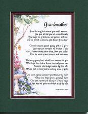 #38 Gift present keepsake poem for a grandmother. 50th 60th 70th 80th birthday
