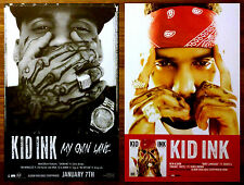 KID INK My Own Lane | Full Speed Ltd Ed 2 RARE Posters Lot +FREE Hip-Hop Poster!