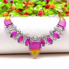 """Marvelous Carved Ametrine, Amethyst Ethnic Jewelry Necklace 18"""" N-458"""