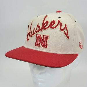 Nebraska Cornhusker Huskers Leather Stapback Adjustable Hat Cap -  READ