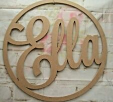 Hoop for wall art varied sizes wall decor 6mm MDF Any TWO LINES of Name/Word