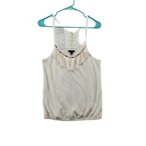 AMERICAN EAGLE OUTFITTERS Women's Off-White  Sleeveless Top Size Medium
