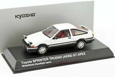 Toyota Sprinter Trueno (AE86) Headlights up White/Black 1:43 Kyosho