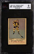 1951-52 PARKHURST HOCKEY #30 ADAM BROWN ROOKIE CARD BOSTON BRUINS KSA 8 NM-MT