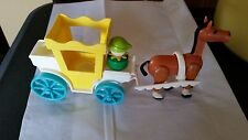 Fisher Price Vintage Castle 993 Carriage Brown Horse Harness