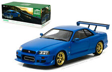 Greenlight Nissan Skyline R34 Custom 1999 Blue 19032 1/18