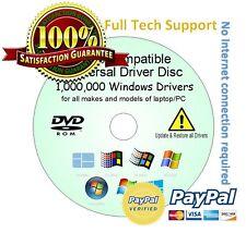 TOSHIBA HP ASUS LG Drivers Update/Restore/Rescue Disc all Windows XP/Vista/7/8