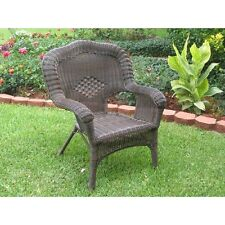 International Caravan Camelback Resin Wicker Patio Chairs (Set of 2)  Pecan NEW
