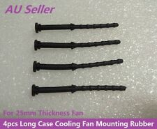 4pcs Long Anti-vibratio Rubber for 25mm Thickness Case Cooling Fan Black