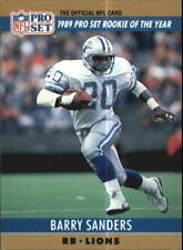 1990 Pro Set Football Card #1 Barry Sanders LIONS R19790