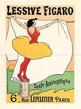 LAVAGGIO POLVERE Figaro SAPONE Parigi Francia Retrò Vintage Pubblicità POSTER 1585pylv