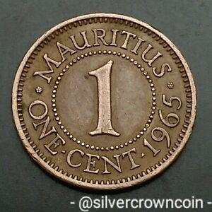 Mauritius 1 Cent 1965. KM#31. One Penny Coin. Elizabeth II.