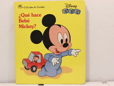 NEW! Que Hace Bebe Mickey? (Board Book) SPANISH EDITION