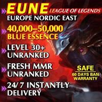 [EUNE 40K+] League of Legends Unranked Account EUNE SMURF LoL 40,000 - 50,000 BE