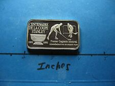 STANLEY CUP HOCKEY 100TH ANNIVERSARY 1893-1993 MONTREAL 999 SILVER BAR 100 MADE