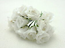 24 DELIGHTFUL WIRED WHITE ROSES FLOWERS, FREEpp, FLORAL ARRANGERS,CRAFTS,FLORIST