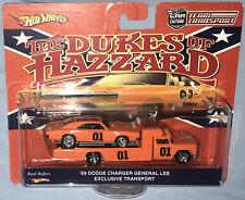 "Custom Hot Wheels Team Transport Set ""Dukes of Hazzard"" '69 Charger & Retro Rig"