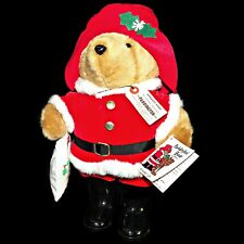 Rare Vintage Christmas Paddington Bear Santa Claus 1981 Eden Toys 16 inch Plush