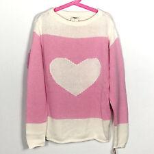 NWT OshKosh B'gosh Girls White & Pink With Heart Sweater Size 12