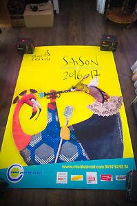 CHAI DU TERRAL 4x6 ft Bus Shelter Original French Art Advertising Poster 2016