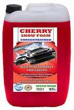CHERRY SNOW FOAM WASH AND WAX 25L LITRE - CONCENTRATED SNOWFOAM