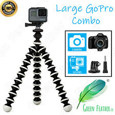 LARGE Flexible Gorilla Tripod | GoPro Combo Edition | Hero 6 5 4 + Camera