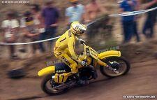 Rick Johnson #17 Yamaha 1984 Carlsbad USGP 12 x 18 Art Photo Motocross