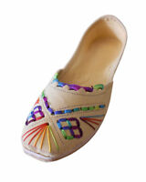 Women Shoes Indian Handmade Traditional Loafers Camel Jutties UK 7-9.5 EU 41-44