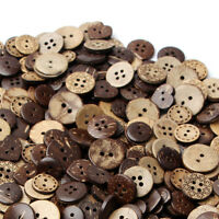 50pcs Mixed Brown Coconut Shell 2/4 Holes Buttons Sewing Scrapbooking 18mm 2020