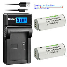 Kastar Battery LCD Charger for Canon NB-9L CB-2LB & Canon PowerShot N Camera