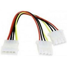 NEW Y Splitter 4-Pin Molex Male to Female Power Adapter Cable Free Shipping