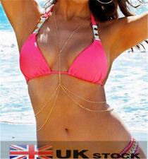 Sexy Body Belly Waist Chain Bikini Crossover Beach Harness Necklace C0005