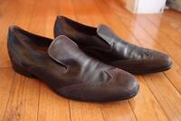 Hugo Boss  wing tip brown suede leather loafer shoe  size 42 (mens 800