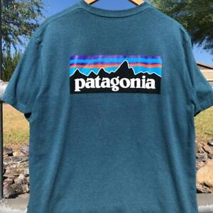 Patagonia Responsibili-Tee Logo Graphic Short Sleeve T Shirt Hiking L