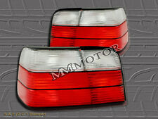 92-98 BMW E36 4DR COUPE TAIL LIGHTS REAR LAMP RED & CLEAR