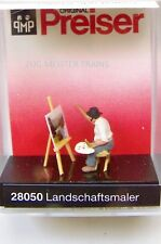 HO 1:87 Preiser 28050 LANDSCAPE PAINTER / ARTIST with Easel and Painting Figure