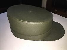 GI Joe Style Hat. Marx Plastimarx Not Vintage! Green Color Large Kids Size