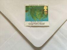 Echte Briefmarken aus Großbritannien mit Musik-Motiv