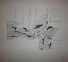 KEMENY Zoltan lithographie originale numérotée abstraction art abstrait
