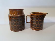HORNSEA HEIRLOOM POTTERY MILK JUG AND CANISTER