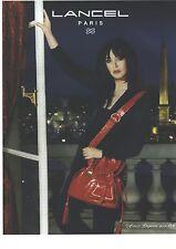 PUBLICITE  ADVERTISING 2008  LANCEL Sac par Isabelle Adjani