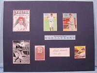 Cleveland Indian Baseball Hall of Famer Earl Averill & autograph