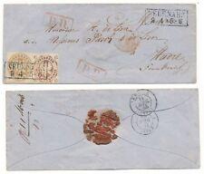 Preußen   Frankreichbrief 1865 MiF K2  Neuenahr - Ahrweiler -Havre