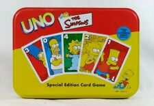 The Simpsons UNO Special Edition Card Game Deluxe Collector Tin Complete 2001