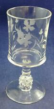 US Glass PAVONIA-Engraved Water Goblet GREAT CONDITION