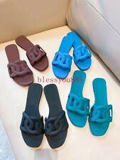 2020 Newest Women PVC Flip Flops Flats Beach Shoes Slippers Summer Slides Green