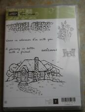 Stampin Up! ~Cozy  Cottage~Stamp set of 7 ~NEW~ Cling Mount - Red Rubber Retired