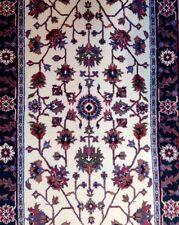 Inviting Ivory - Floral Design Rug - Oriental Indian Carpet - 2.11 x 5.2 ft.